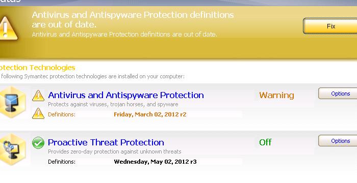 Symantec Endpoint Protection 11: No updates since 03/02/12