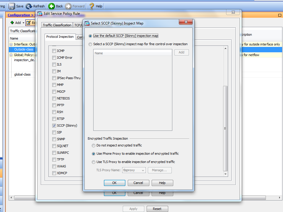 Cisco 7945 Phone - configuring for proxy