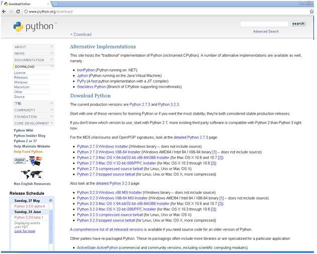 Installing Python 2 7 3 version on Windows operating system