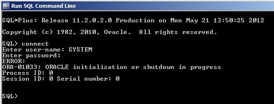 SQL*Plus Error