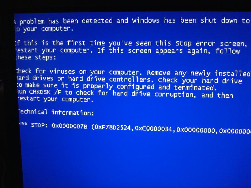BSOD - no details other than stop.