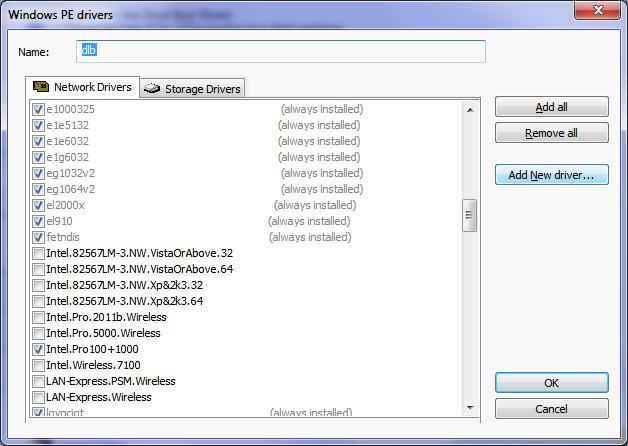Dell Optiplex 990 & Vista PE (Symantec Ghost) Intel 825 NIC Not Found