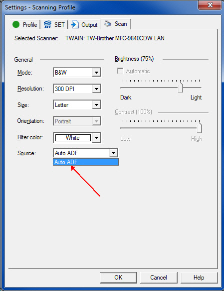 Duplex scanner not properly set up