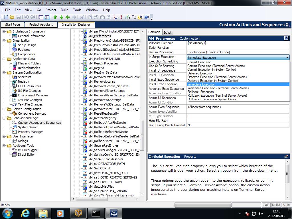 Installshield Vbscript Custom Action