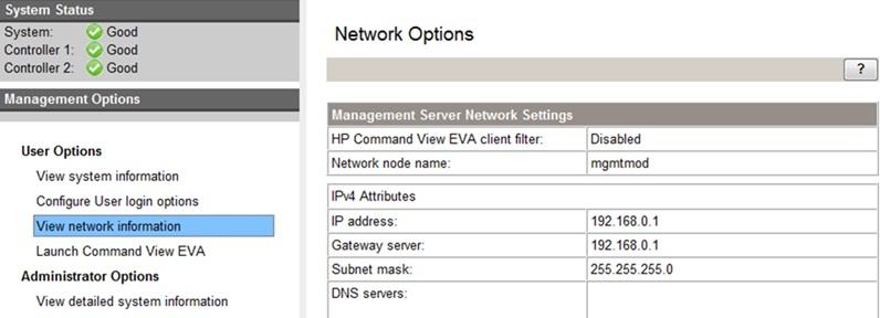 Network Option
