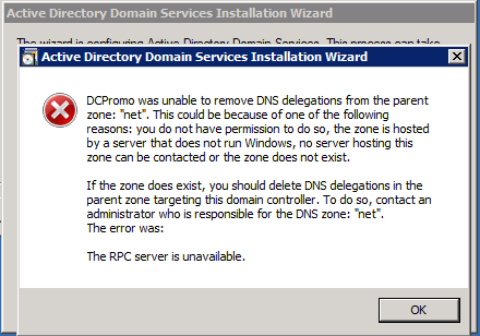 SOLUTION] DCPROMO Failed to Demote a DC