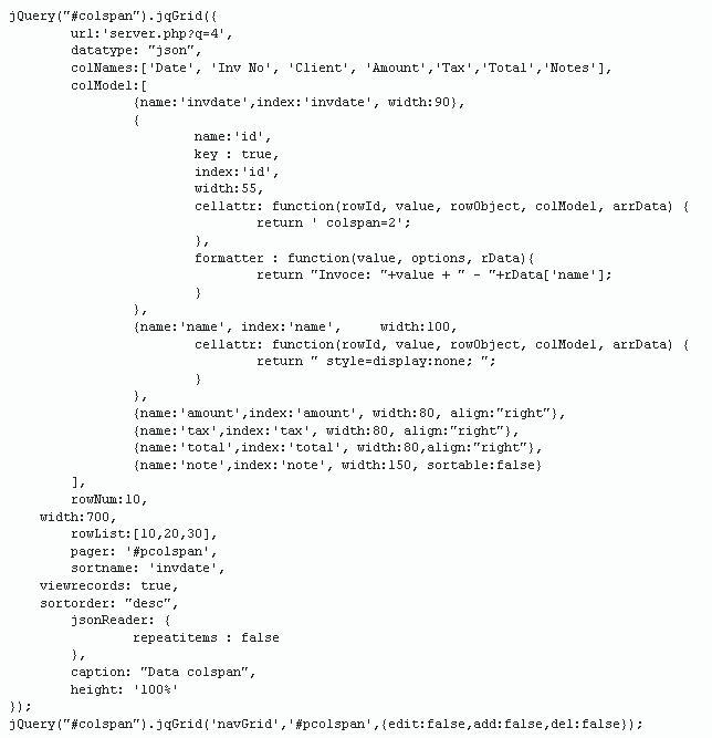 Formatter jqgrid integer