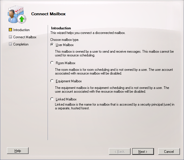 restore deleted active directory user account and exchange m