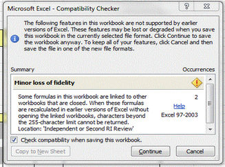 VBA - Disable Excel 2010 Compatibility Checker