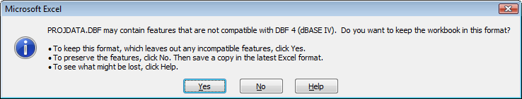 DBF error  Can't reindex