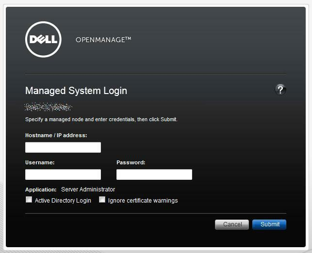 Dell OpenManage System Administrator