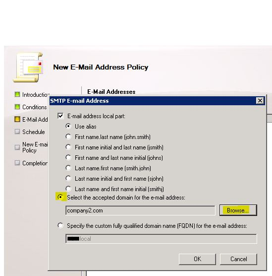SMTP E-Mail Address