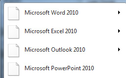 microsoft office 2010 icons missing windows 7