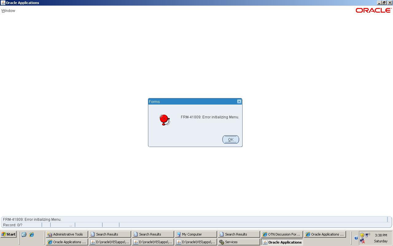 Oracle Apps R12: FRM-41809 and FRM-41067 Error While Opening