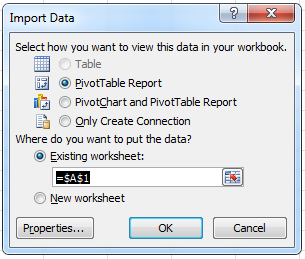 Import Data from Cube