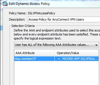 ASA 5505 LDAP/DAP configuration