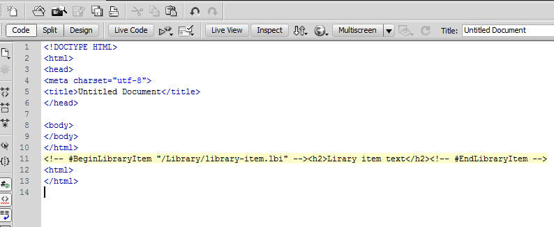 """Background color for Library Items is set to """"yellow"""""""