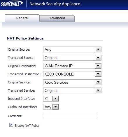 Wireless XBOX Behind a Sonicwall Router - NAT ISSUE