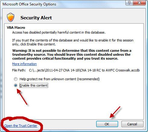 access security alert