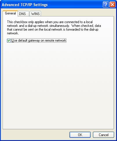 Default Gateway on Remote Network