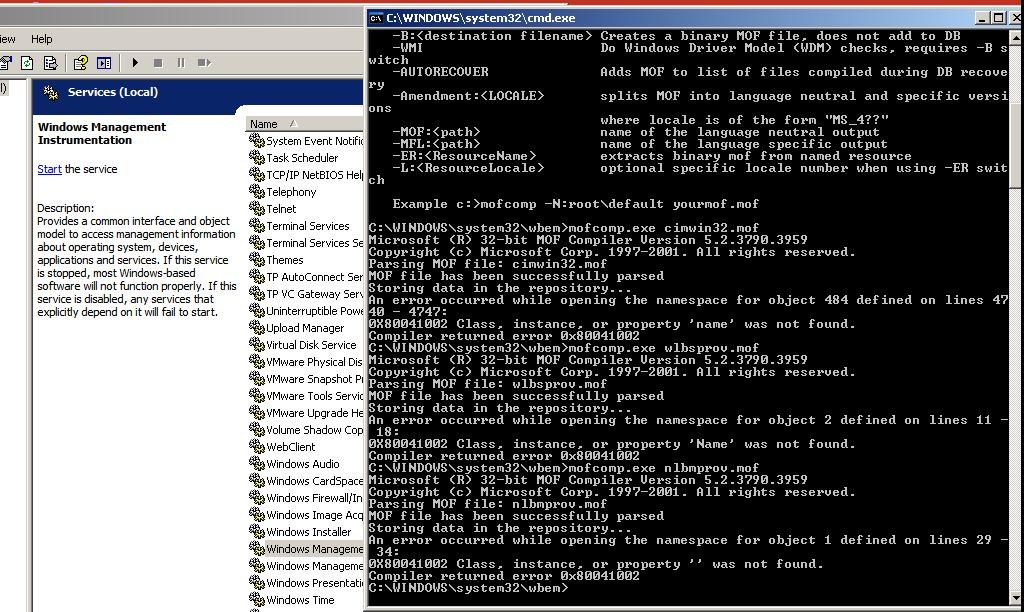 Error code 0x80041002 ERROR CONNECTING TO TerminalServer01