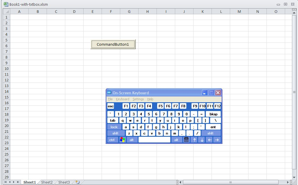 Excel userforms and disabling the Microsoft office 2010 on