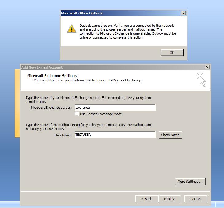 Screenshot of the error!