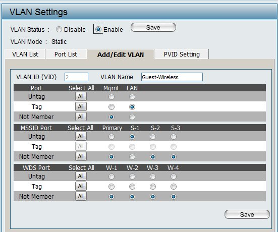 Add Edit VLAN