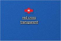 red transparent on my desktop