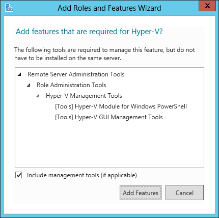 Add featurse that are required for Hyper-V