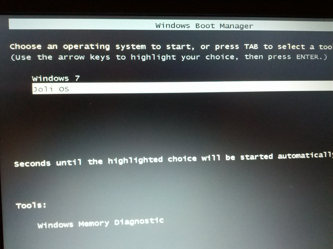 Dual Booting Win7/Joli OS - no longer can boot to Joli OS after