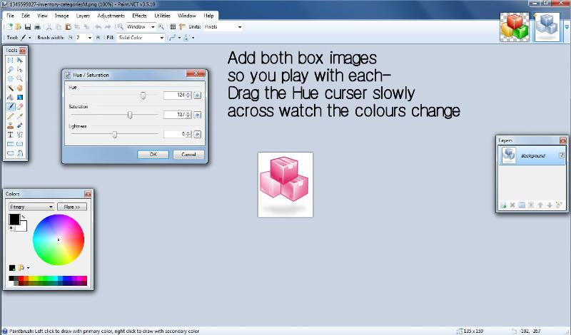 Add both Box images as image easy to test both