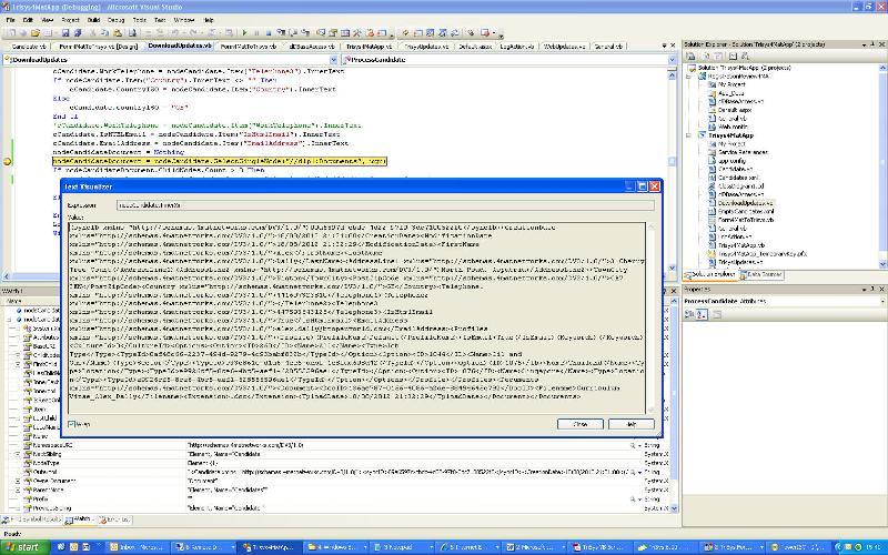 Visualiser of NodeCandidates prior to line step...