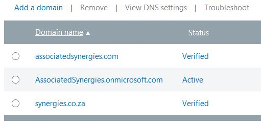 365 domains
