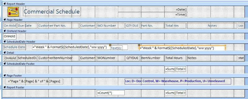 Report with new text box added, exact same control source in both fields