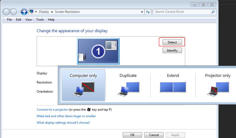 Win7 - Multi Display Options