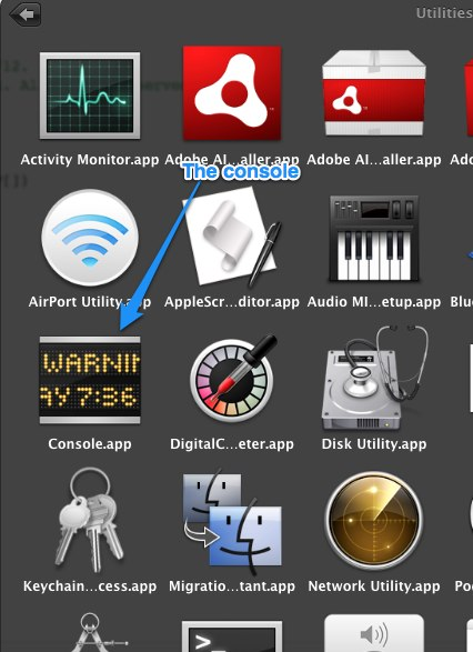 Console app in Utilities
