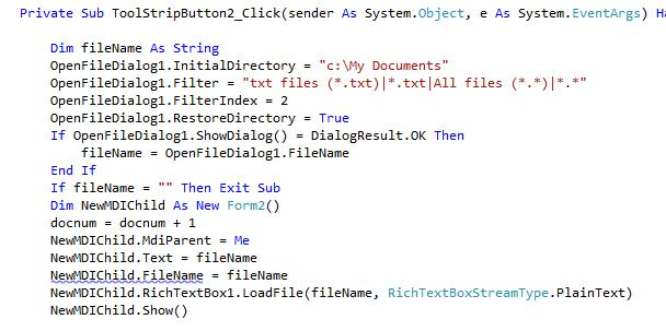 MDI FORM - Load/Save/Save + Print (if poss) As (VB NET 2010 Express)