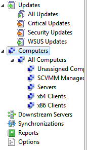 my WSUS groups