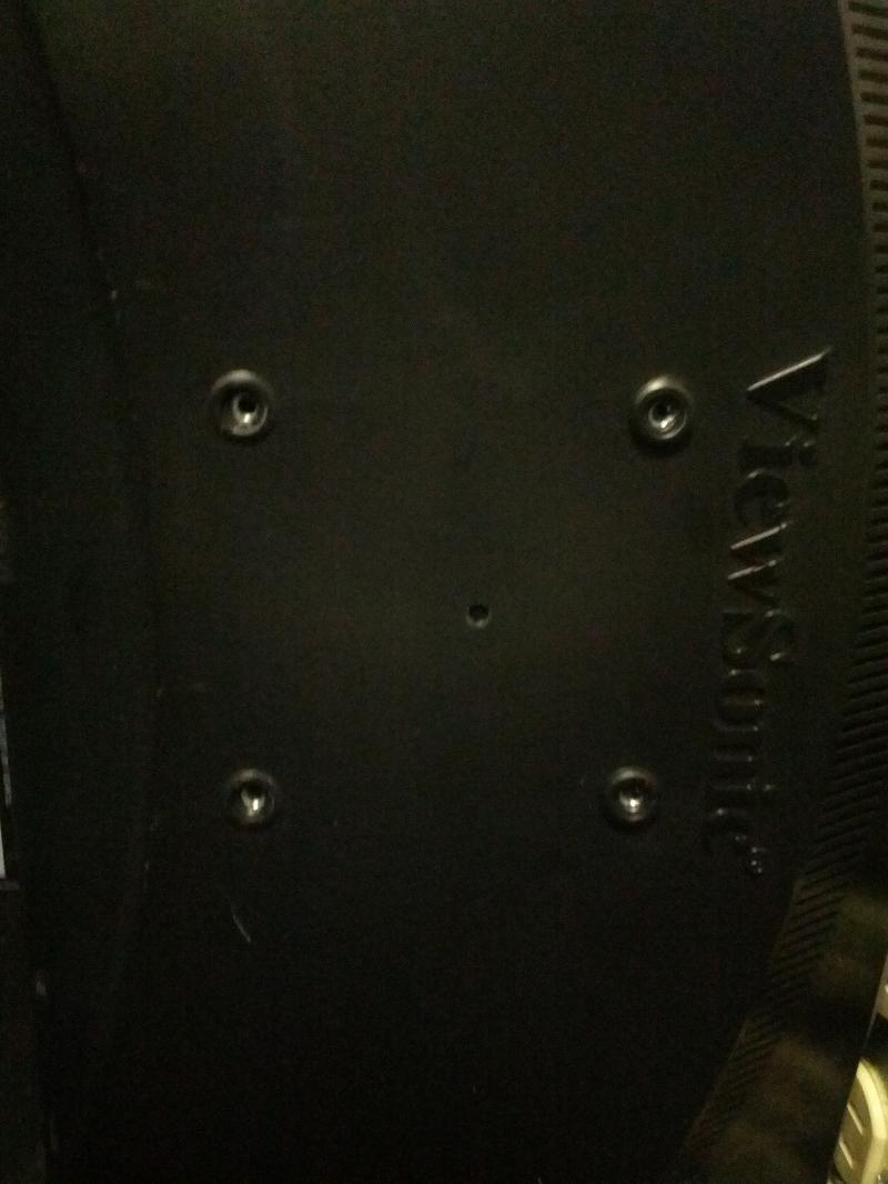 Monitor has holes spaced out 3 inches