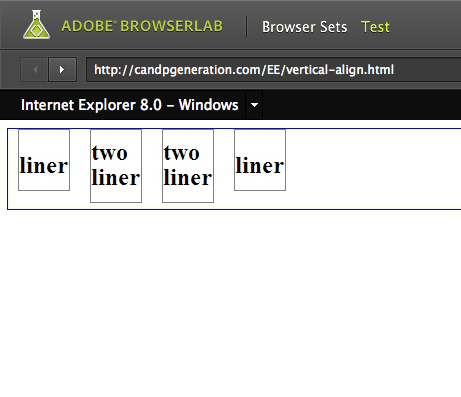IE8 browserlab