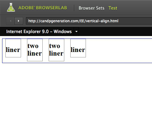 IE9 browserlab