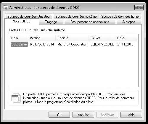 ODBC admin
