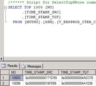View can be seen in MS SQL select statement