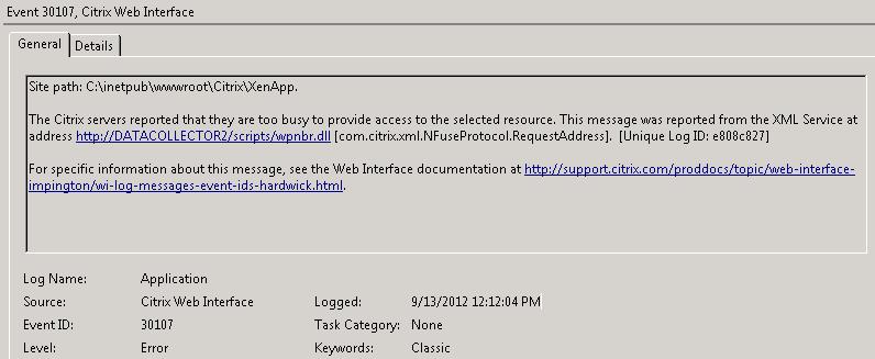 SOLUTION] Citrix XenApp 6 5 Published App Error