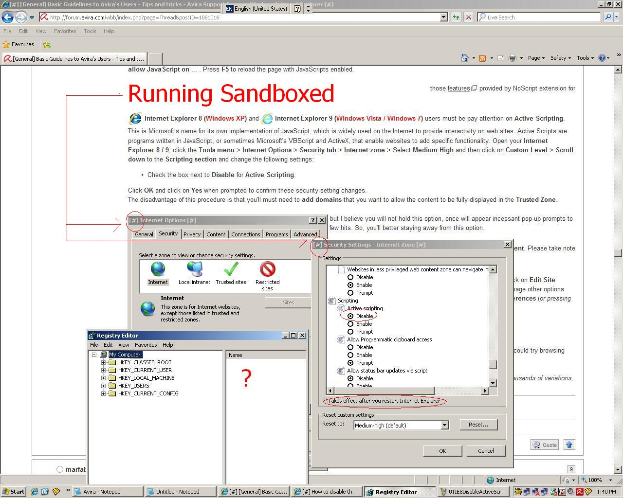 Is possible to use group policy settings to disable active 01ie8disableactivescripting ccuart Gallery