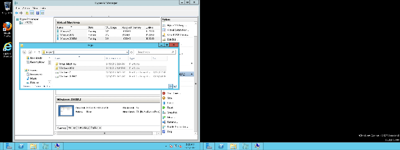 VM Location for Windows 7 and Windows 2008