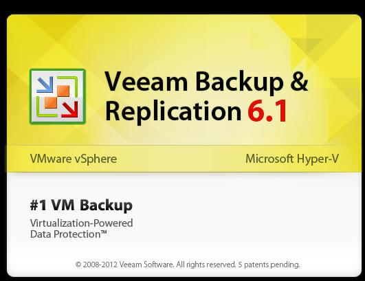 Veeam Backup & Replication startup banner
