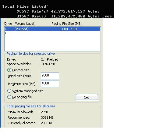 Page File and total file size