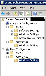 Group Policy missing elements
